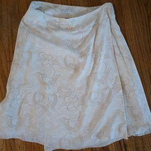 Silk Knee Length Skirt